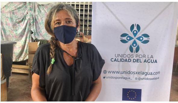 Hibis Suárez – Coordinadora del Comedor Alimenta la Solidaridad | Foto: Unidos por la Calidad del Agua